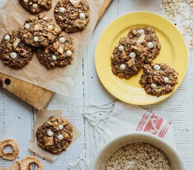 apple walnut oatmeal cookies