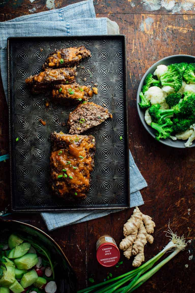 5 Spice Meatloaf with Apricot Ginger Glaze is a make over of an old classic that's a delicious kid friendly comfort food dinner!   Healthy Seasonal Recipes   Katie Webster