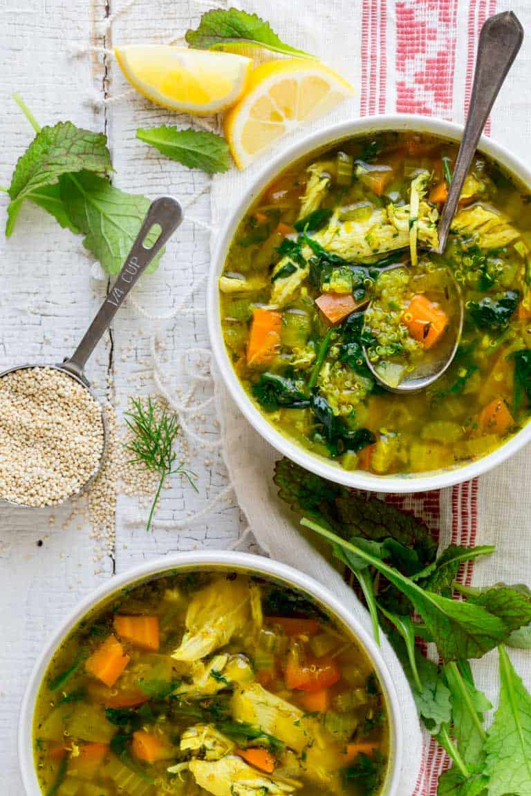 What to do with mustard greens and a recipe for Chicken Soup with Mustard Greens and Turmeric