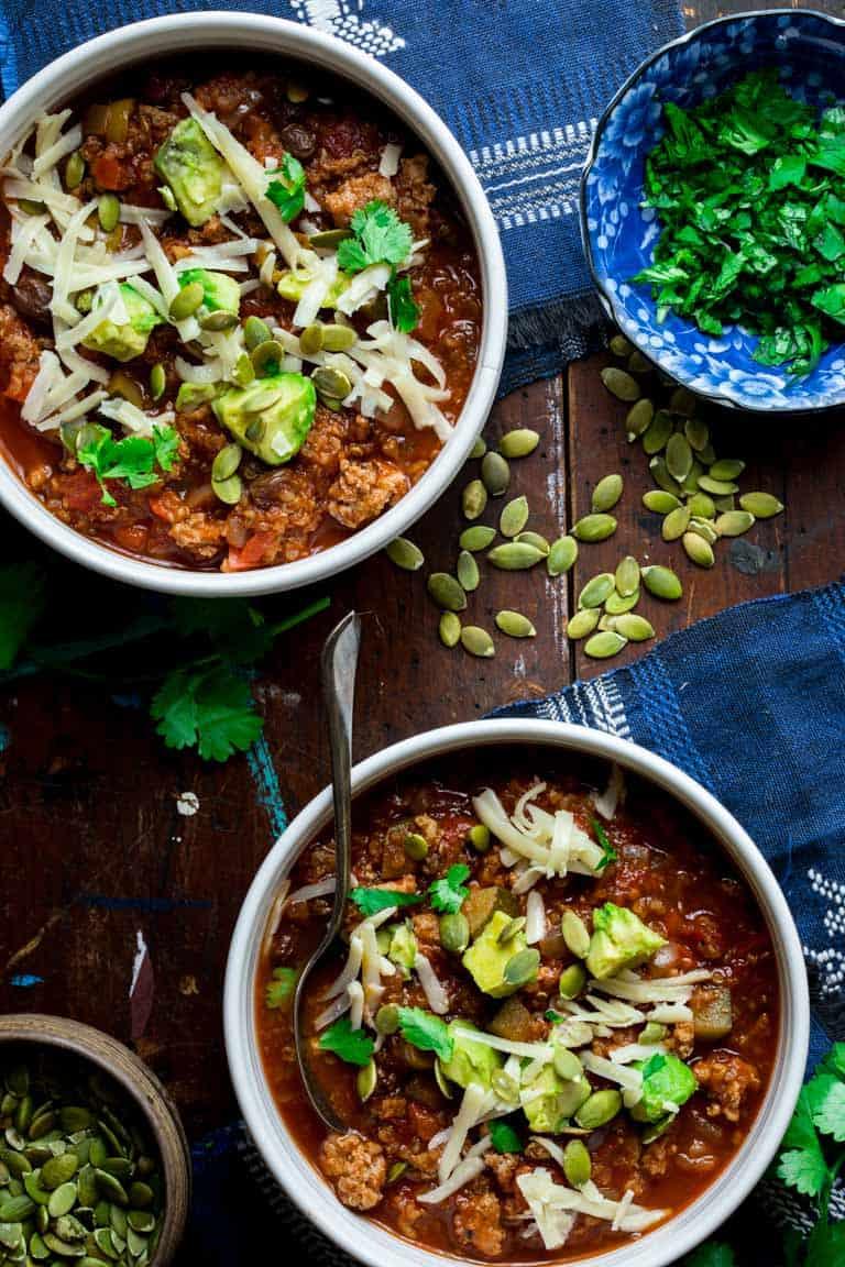 Turkey Picadillo Chili With Quinoa Healthy Seasonal Recipes