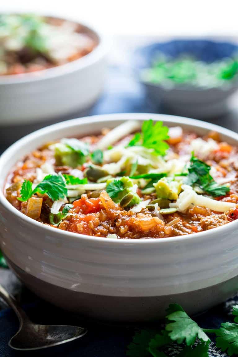 Picadillo Turkey Chili with Quinoa | Healthy Seasonal Recipes