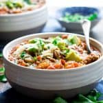 Turkey Picadillo Chili with Quinoa | Naturally gluten-free and healthy! On healthyseasonalrecipes.com