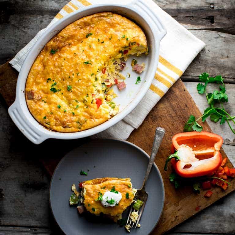 Baked Denver Omelet {low Carb}