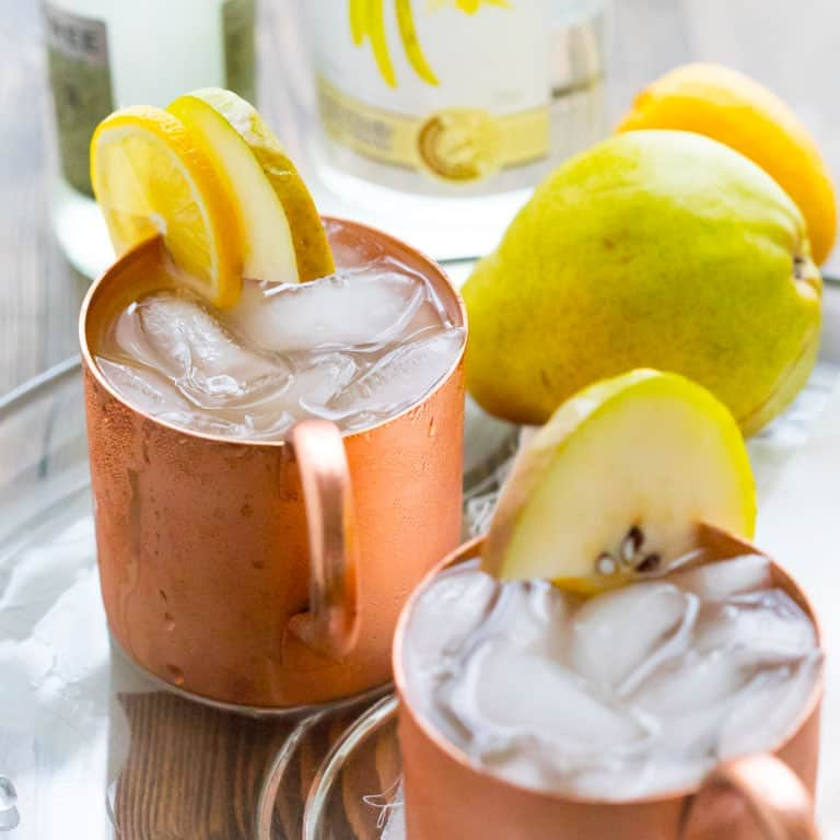 vanilla pear moscow mules