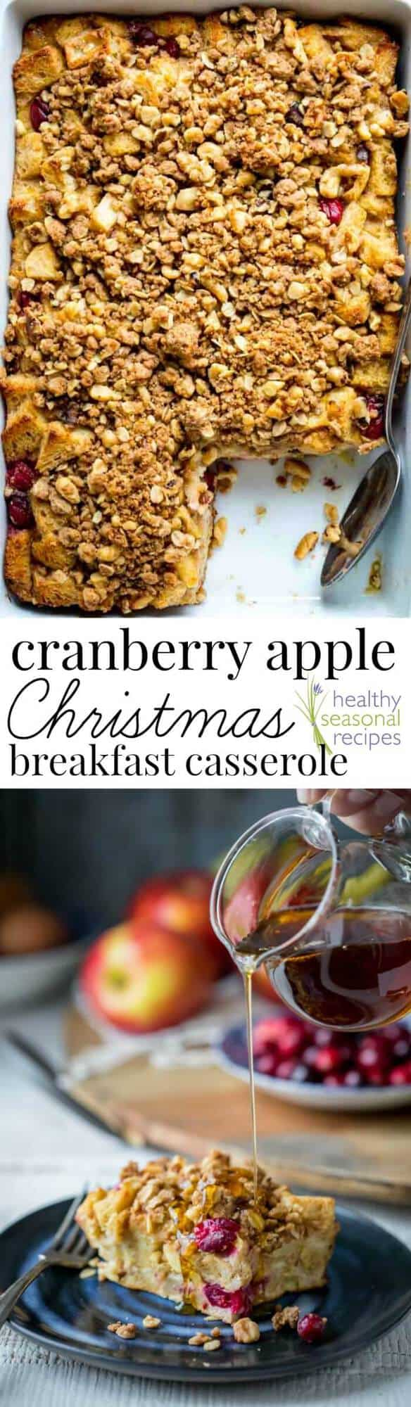 cranberry apple christmas breakfast casserole