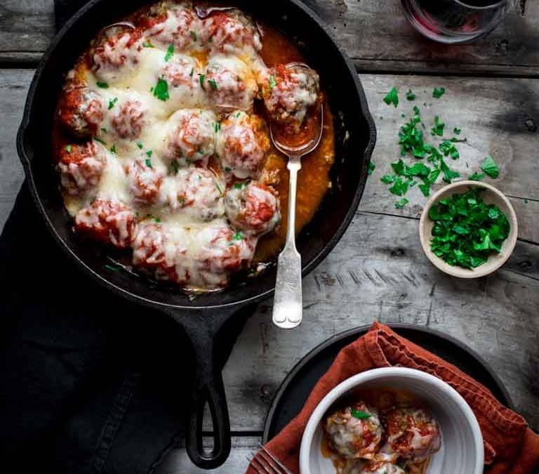 oven baked meatballs with parmesan