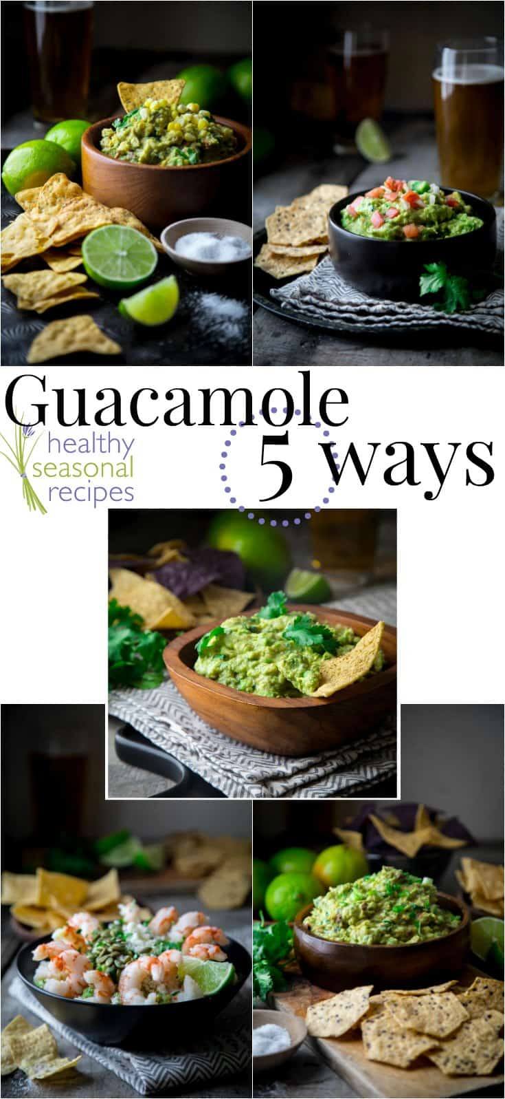 collage of guacamoles with text