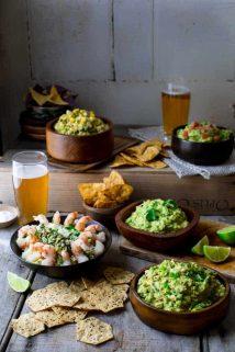 How to Make Guacamole 5 Ways on Healthy Seasonal Recipes #superbowl #cincodemayo #guacamole #glutenfree #appetizer #partyfood