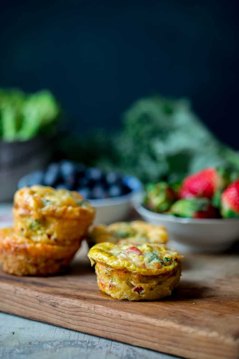 #sponsored These Grab and Go Veggie Egg Cups are my fave for a healthy high-protein breakfast for busy mornings. They're made with any variety of low-carb veggie you like, plus fresh eggs, cheddar cheese and seasoning. Each serving has 17 grams of protein! They are sugar-free, grain-free, vegetarian and low-carb too. #glutenfree #lowcarb #grainfree #highprotein #breakfast #keto