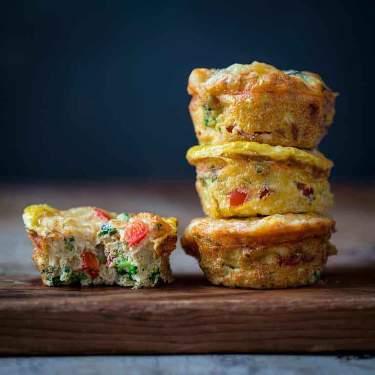 grab-and-go high-protein veggie egg cups