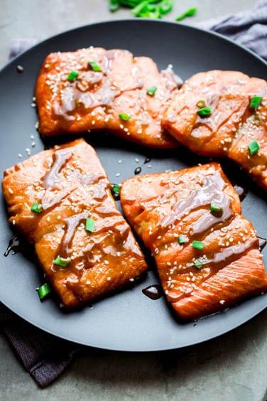 maple tahini roasted salmon