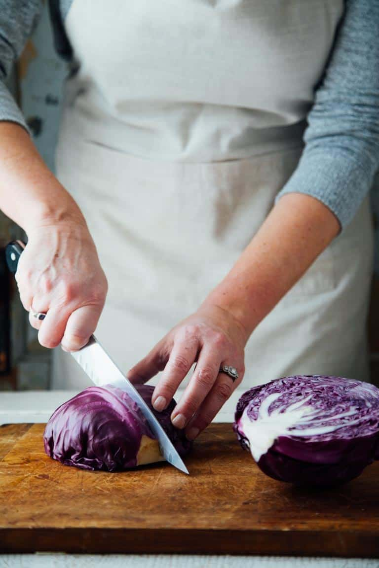 How to cut cabbage on Healthy Seasonal Recipes