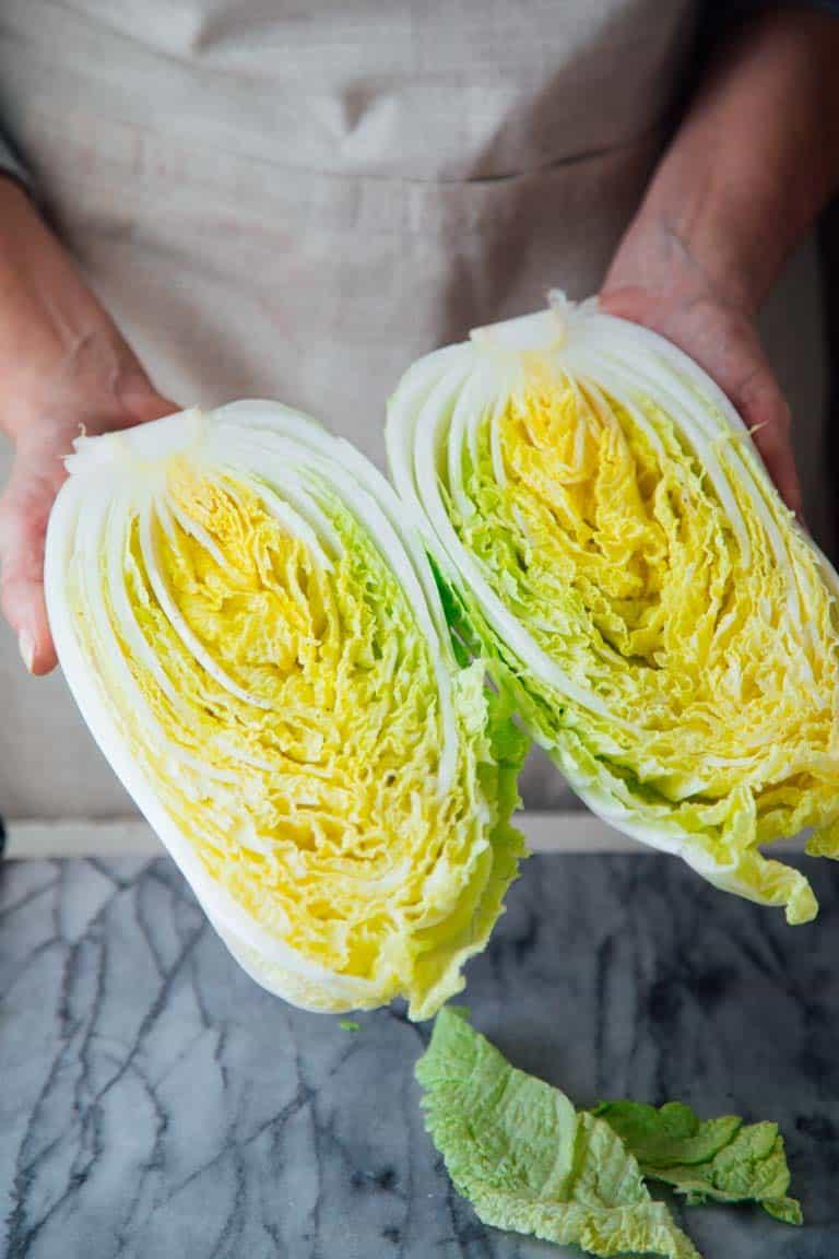 How to slice Napa Cabbage