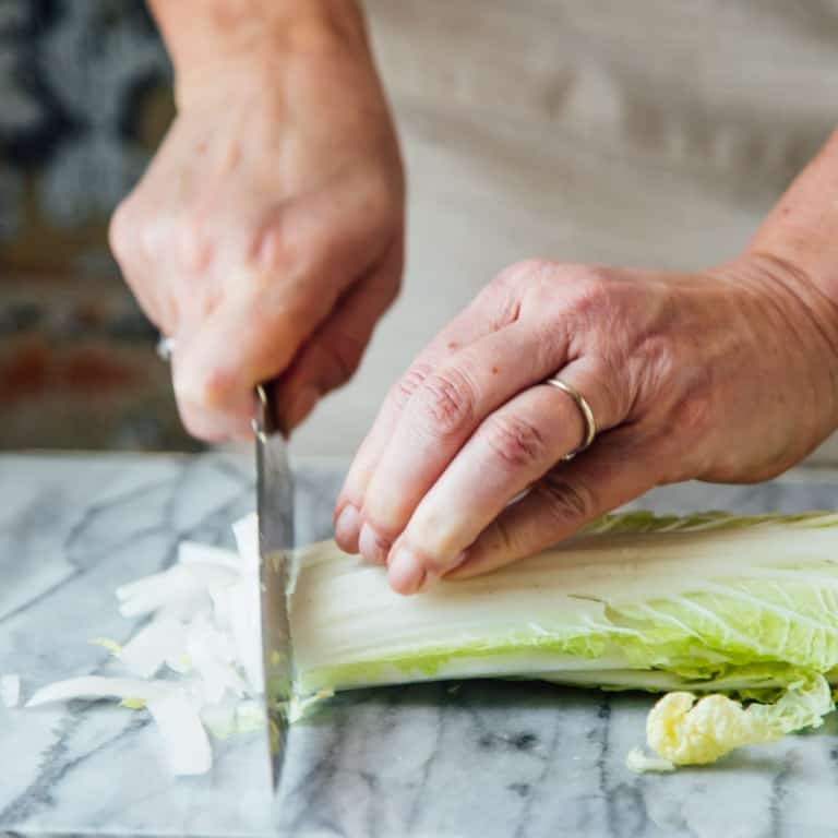 How to make cutting Napa Cabbage easier | Healthy Seasonal Recipes