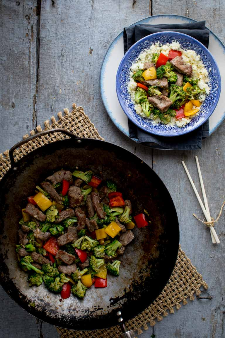 30 minute Sugar-free Clean Eating Beef and Broccoli Stir-fry | Healthy Seasonal Recipes @healthyseasonal #cleaneating #beefrecipe #stirfry #sugarfree #lowcarb #keto