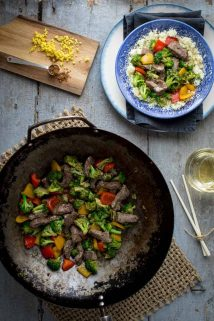 20 minute Sugar-free Clean Eating Beef and Broccoli Stir-fry | Healthy Seasonal Recipes @healthyseasonal #cleaneating #beefrecipe #stirfry #sugarfree #lowcarb #keto
