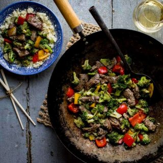 20 minute Sugar-free Clean Eating Beef and Broccoli Stir-fry | Healthy Seasonal Recipes @healthyseasonal #cleaneating #beefrecipe #stirfry #sugarfree