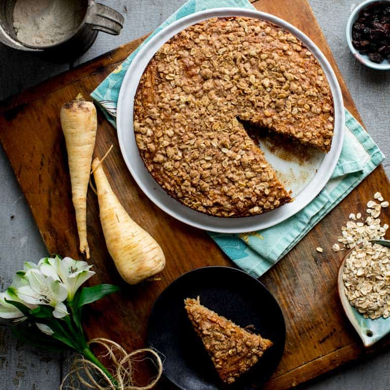 maple parsnip morning glory coffee cake