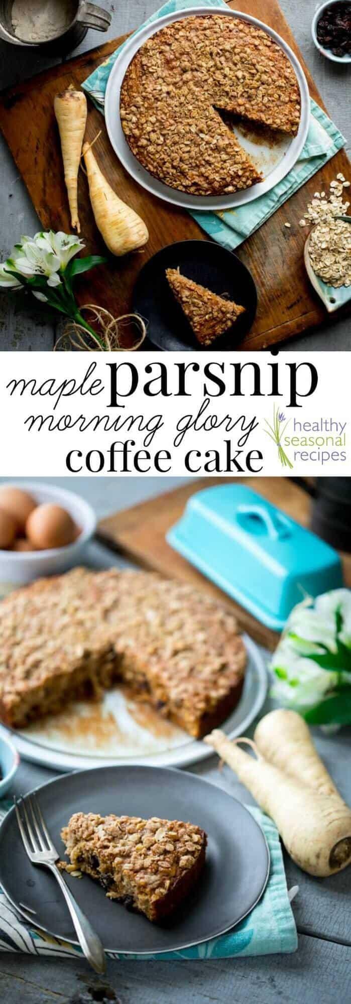 Gluten Free Parsnip Maple Cake