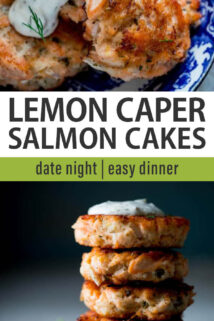 salmon cakes collage