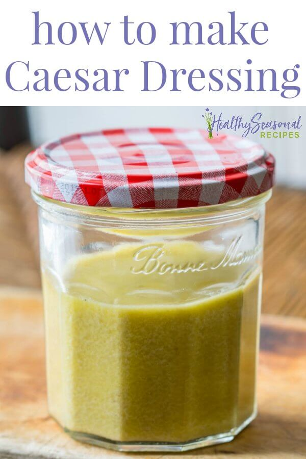 A jar of Caesar Dressing