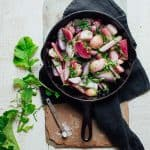 Simple Sautéd Radishes with Chives Recipe and the Ultimate Guide to Radishes on Healthy Seasonal Recipes #radishes #lowcarb #sidedish #spring #healthy