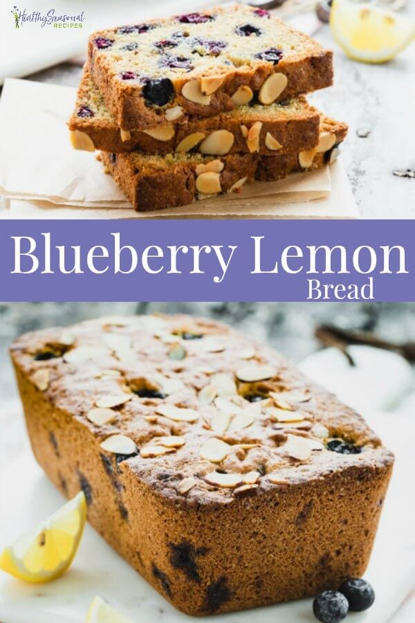 healthy blueberry lemon bread
