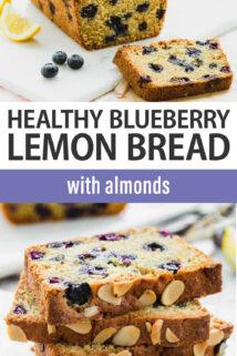 blueberry lemon bread text overlay
