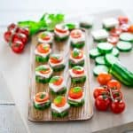 Low-Carb Cucumber Greek Salad Bites on Healthy Seasonal Recipes by Katie Webster