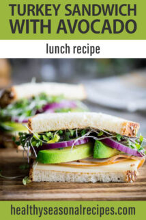 side view turkey avocado sandwich