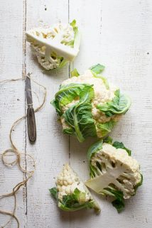Ever wondered is you can regrow cauliflower? Are cauliflower stalks edible? How do you make cauliflower rice? Read up on cauliflower growing info, culinary tips and nutrition in this Ultimate Guide to Cauliflower. Healthy Seasonal Recipes by Katie Webster | #cauliflower #seasonal #produce #fresh #guide