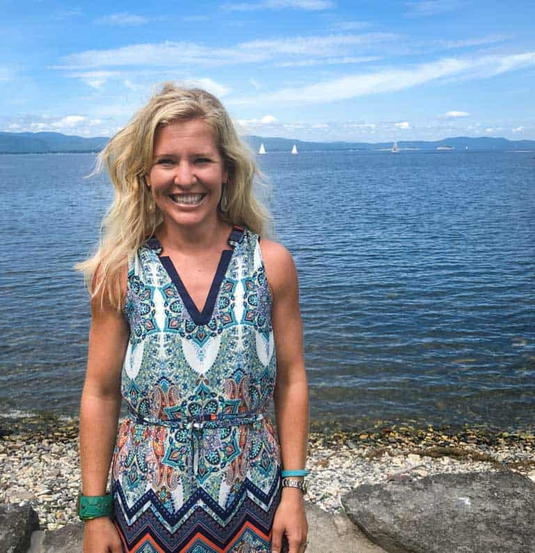 Katie Webster of Healthy Seasonal Recipes at Shelburne Farms on Lake Champlain, Vermont