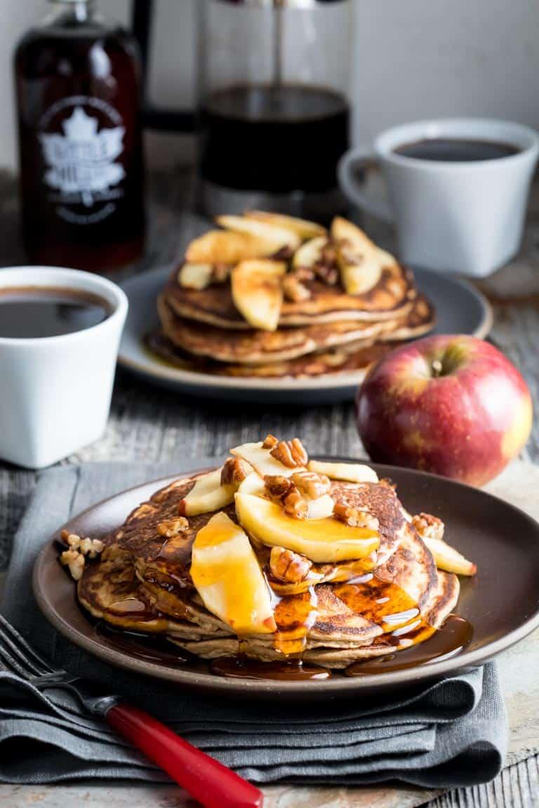 apple protein pancakes {gluten-free}
