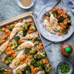 Sheet Pan Chicken Broccoli