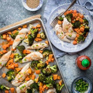 Sheet Pan Chicken Broccoli