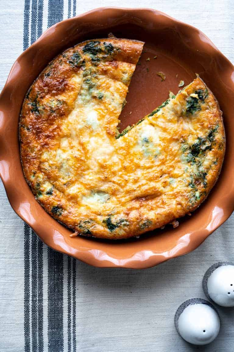 Spinach Egg Bake ~ Healthy Seasonal Recipes