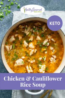 pot of keto chicken soup