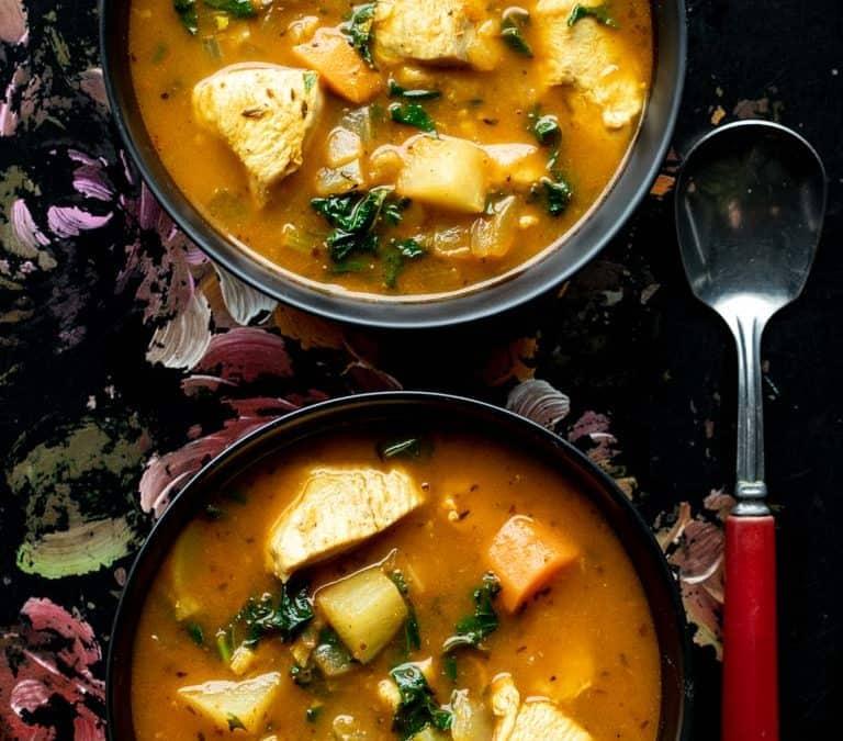 chicken vegetable soup {paleo}