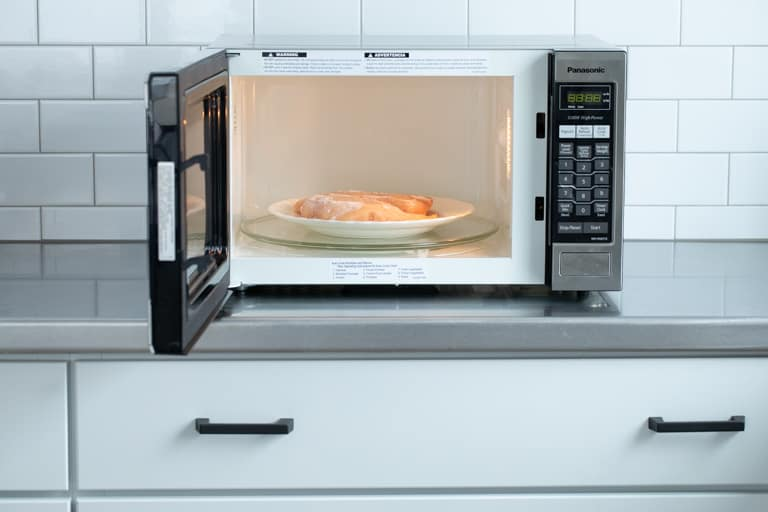 thaw chicken in the microwave