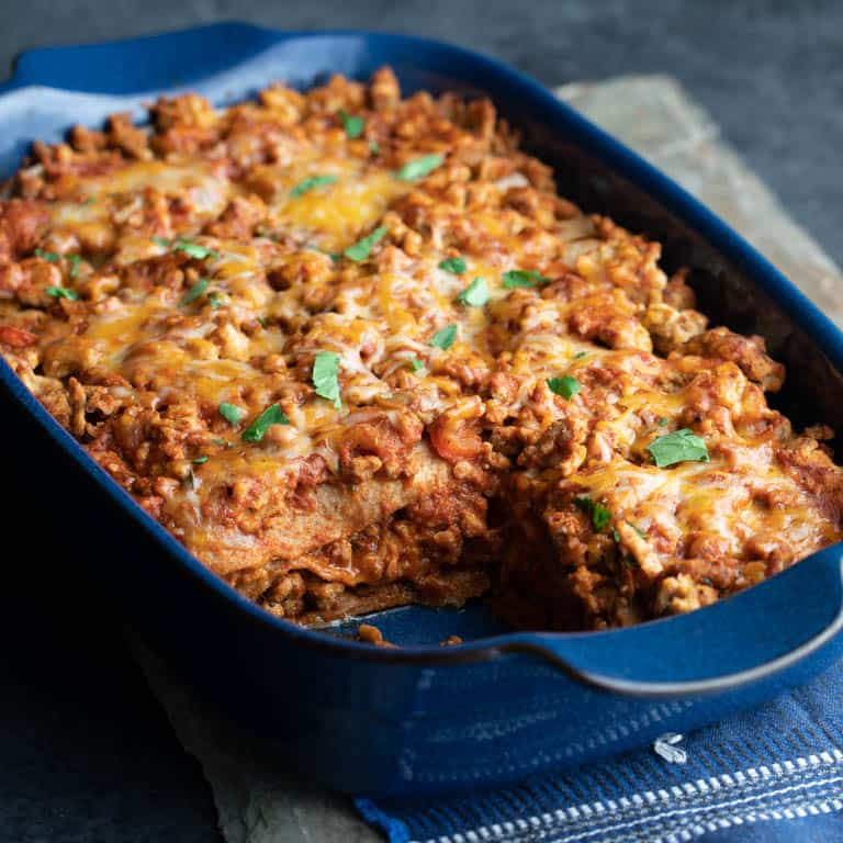 Layered Chicken Enchilada Casserole Healthy Seasonal Recipes