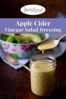 apple cider vinaigrette jar