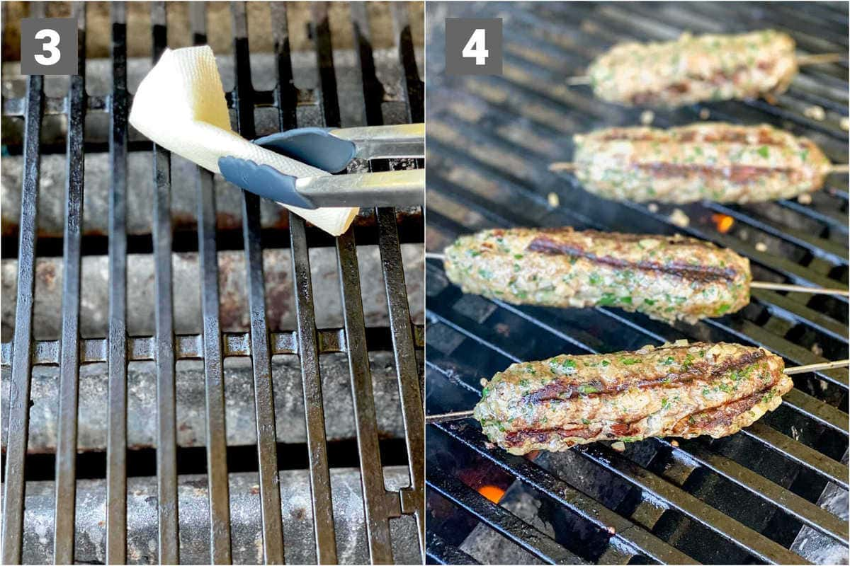 oil the grill rack, then grill the kofta