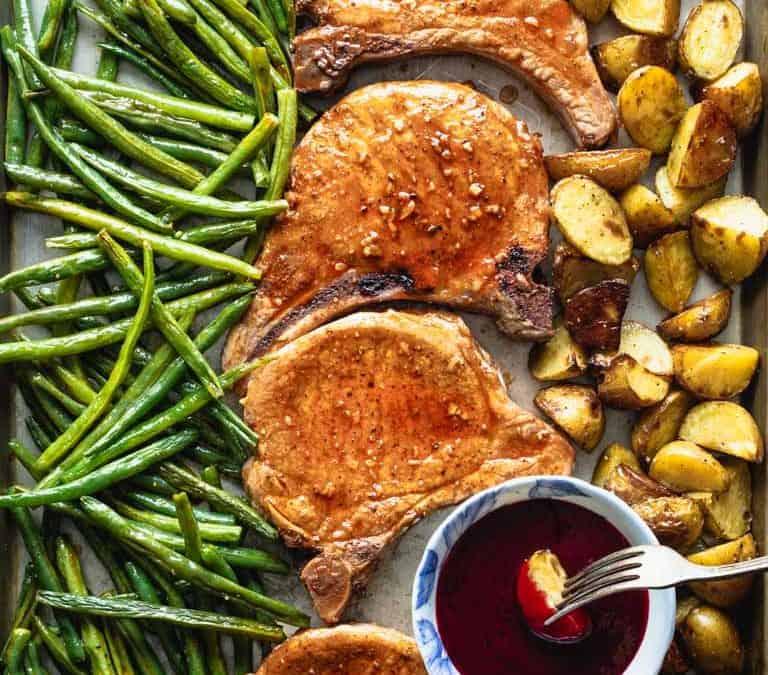 sheet pan pork chops