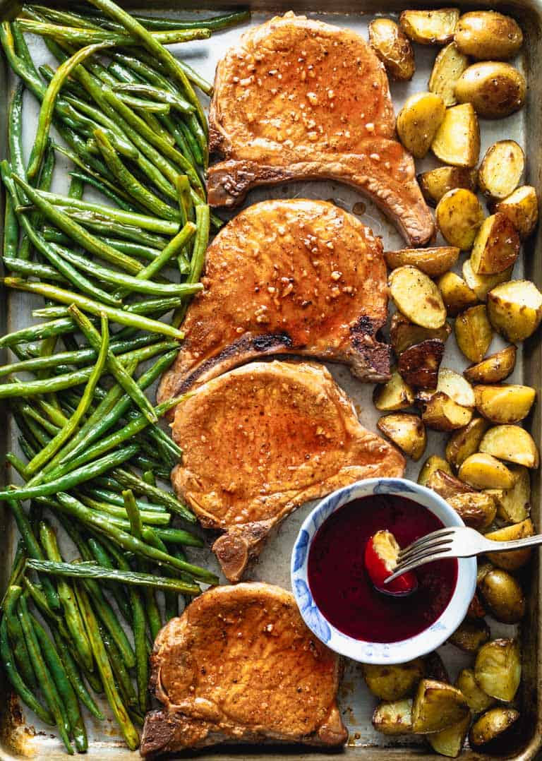 sheet pan pork chops