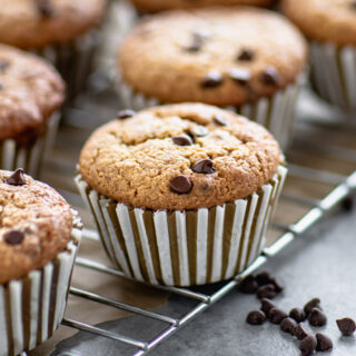 close up of a muffin