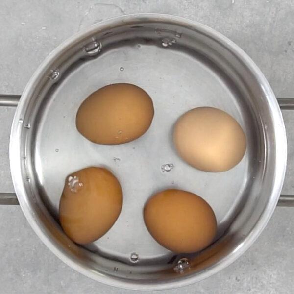 Hard Boil 4 eggs