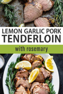 grilled pork tenderloin text overlay