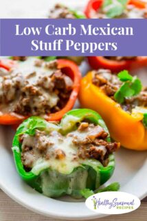 close up stuffed peppers