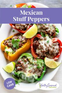 platter of mexican stuffed peppers