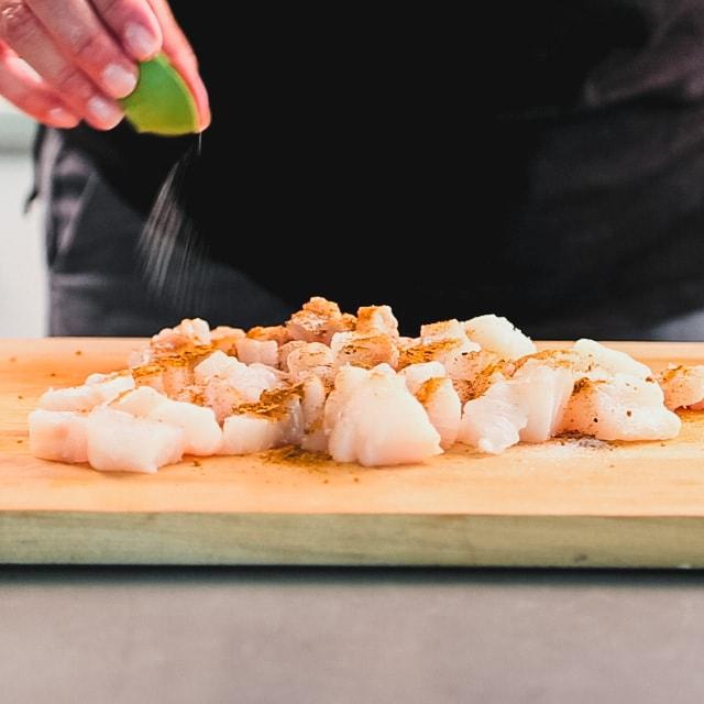 Sprinkle cod with Cajun seasoning and salt.